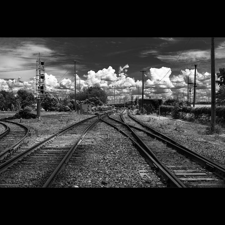 Since this instagram gallery I'd about #blackandwhite images. Railway tracks in #montreal.  Yes these pictures were clicked under stick supervision of two adults looking in both directions of the railway track anf while the traffic gates were open for cars to pass over the railway track.  No trains were hurt in the process of creating these images.  Yes there are few of you who are not colour blind and love t see colour pictures.  The colour version of this image will be posted on my travel…