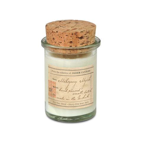 Mahogany Myrrh. Shop now at The Candle Library. Skeem candles are handmade in the US using a soy wax blend.