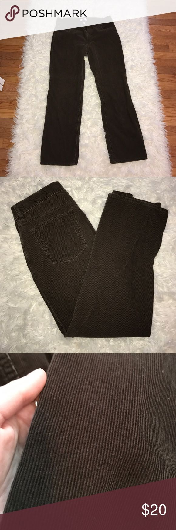 Dark brown men's corduroy pants from GAP Men's dark brown pants size 32 x 30 perfect condition. Feel pretty soft and comfy GAP Pants Corduroy