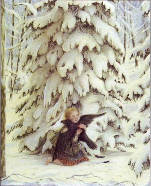 From The Snow Queen.  Ill. by Angela Barrett.