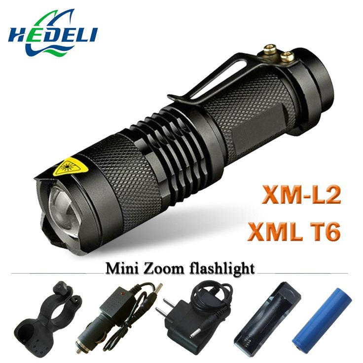 Mini zoom senter lanterna led cree xml t6 xm-l2 led torch powerfull rechargeable senter 3800 lumens menggunakan 18650 baterai