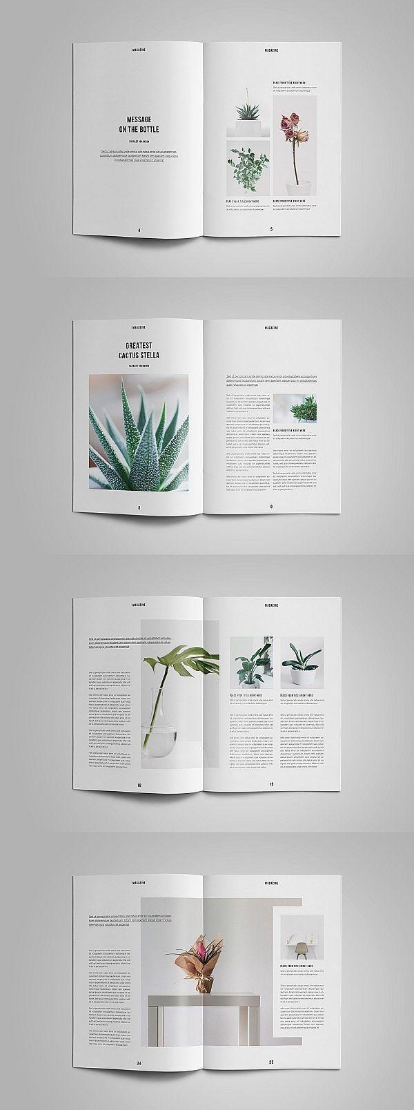 Vorlage für Natur / InDesign-Magazin #magazine #brochure #template #brochuretempl