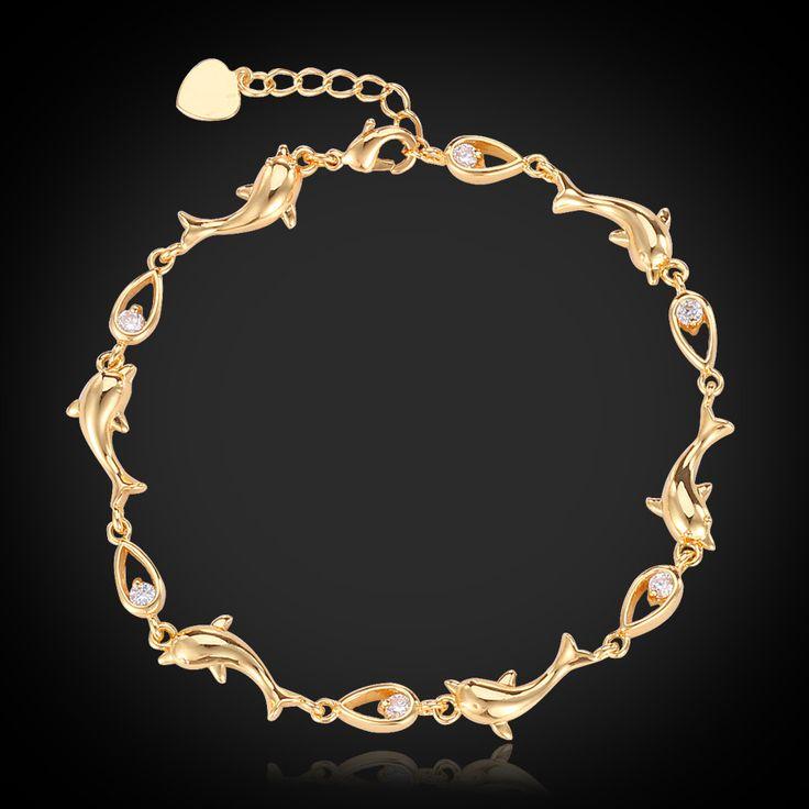 Cheap jewelry hunt, Buy Quality jewelry stand directly from China jewelry recycle Suppliers:                            Dolphin Bracelets Women 2015 Hot Fashion Jewelry Austrian Rhinestone Platinum / 18K Rea
