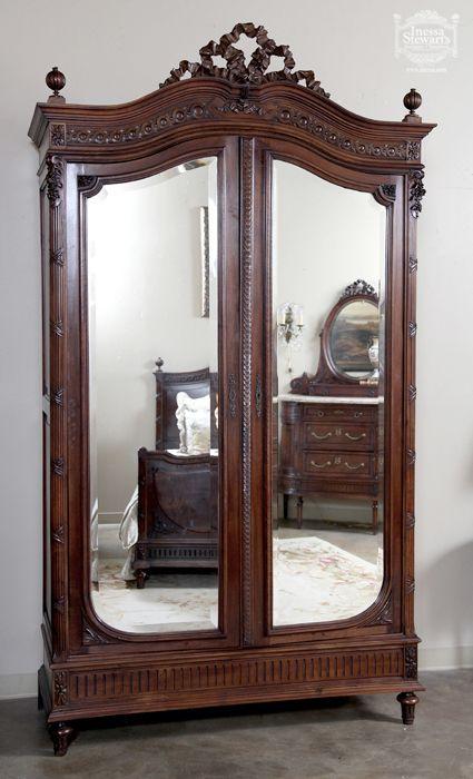 Antique French Louis XVI Walnut  Armoire - Online Antique Store | www.inessa.com