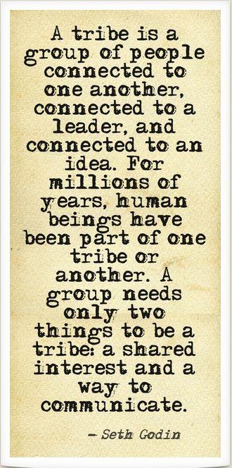 Tribe Seth Godin Quote 2                                                       …