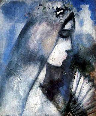 Marc Chagall - La mariée à l'éventail