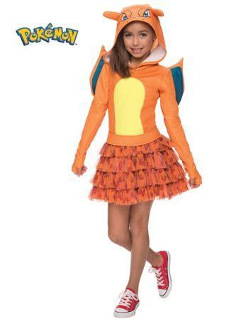 Girls Pokemon Charizard Costume | Wholesale Cartoon Characters Costumes for Girls