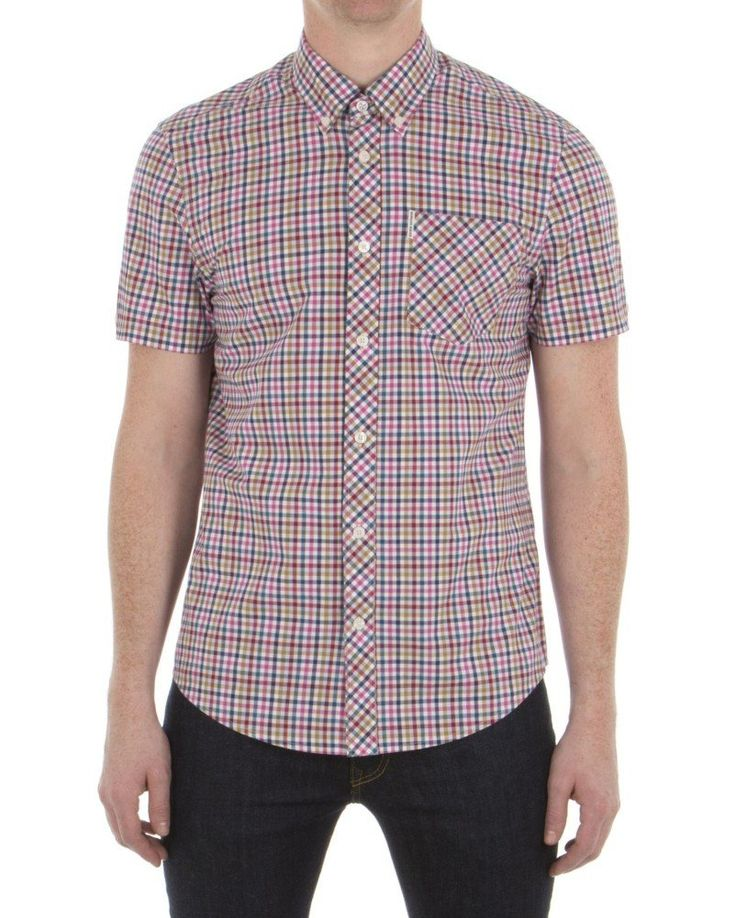 Ben Sherman Multi Colour Gingham Short Sleeve Shirt