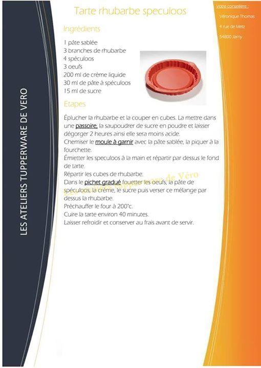 Tarte rhubarbe spéculoos - Tupperware