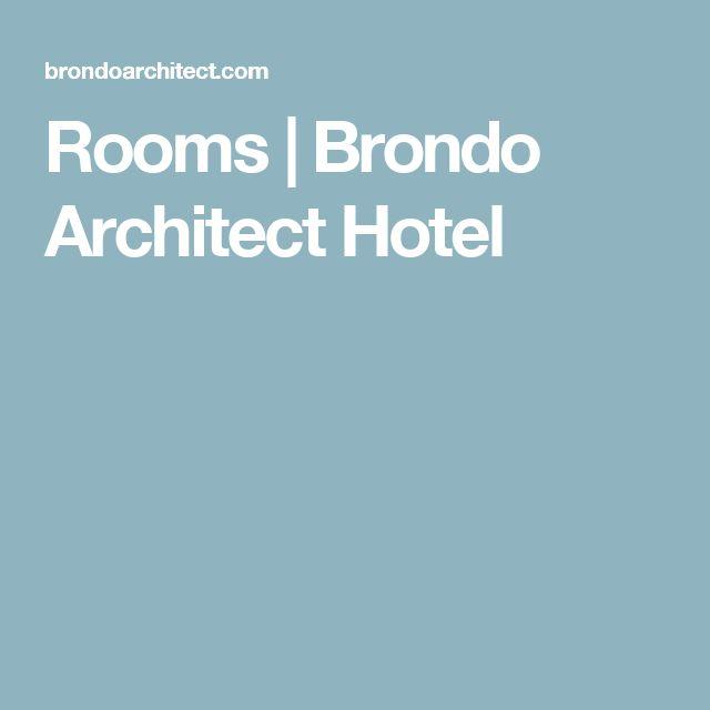Rooms | Brondo Architect Hotel