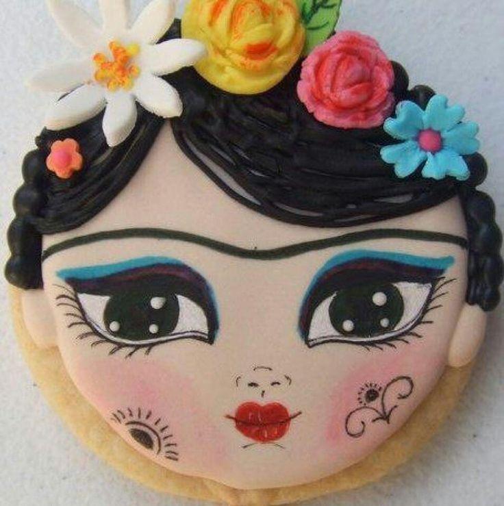 Frida Kahlo cookie