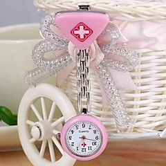 unisex runde-formet hjerte legering analog quartz sygeplejerske ur (1pc) (assorterede farver)