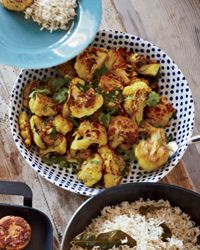 Roasted Cauliflower with Turmeric and Cumin // More Delicious Roasted Vegetables: http://www.foodandwine.com/slideshows/roasted-vegetables #foodandwine