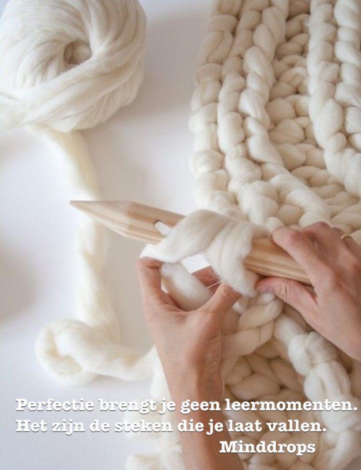 Perfectie brengt geen leermomenten. Het zijn de steken die je laat vallen. www.minddrops.nl