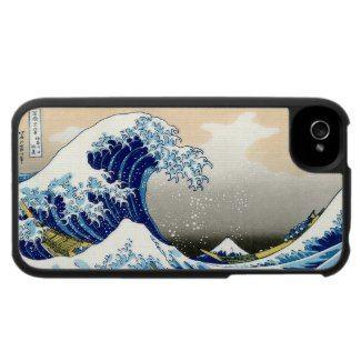 SOLD! - The big wave of Kanagawa Katsushika Hokusai iPhone 4 Cover #kanagawa #wave #hokusai #japanese #masterpiece #art #classic #vintage #oriental #waterscape #art #cover #case #iphone #iphone4 #apple #smartphone #gift