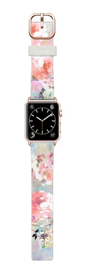 Casetify Apple Watch Band (38mm) Casetify Band - Romantic watercolor flowers pattern Apple watch by Girly Trend #Casetify