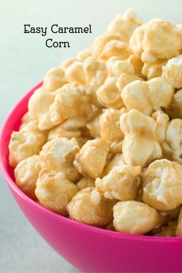 How to Make Easy Caramel Corn with Karo Syrup.  You will love this popcorn recipe.  It makes the perfect Halloween food.