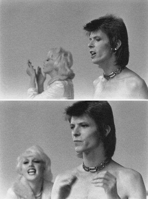 "vezzipuss.tumblr.com — David Bowie & Cyrinda Foxe,""Jean Genie"" Video,..."