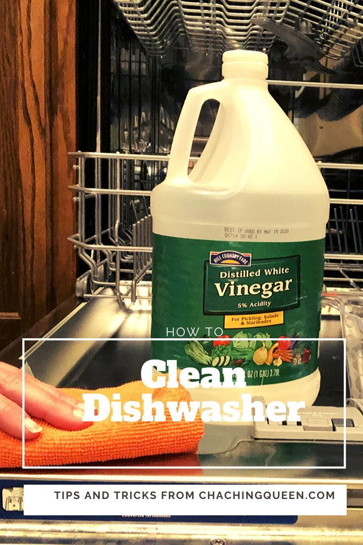 How To Clean Your Dishwasher With Vinegar And Cleaning Tablets Cha Ching Queen Cleaning Your Dishwasher Dishwasher Smell Clean Dishwasher