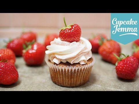 Strawberries and Cream Cupcakes | Cupcake Jemma - YouTube
