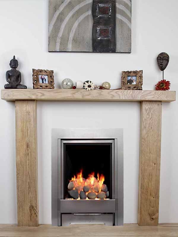 SOLID OAK BEAM 6X4 INCH FIRE SURROUND MANTELPIECE BESPOKE FIREPLACE in Home, Furniture & DIY, Fireplaces & Accessories, Mantelpieces & Surrounds | eBay