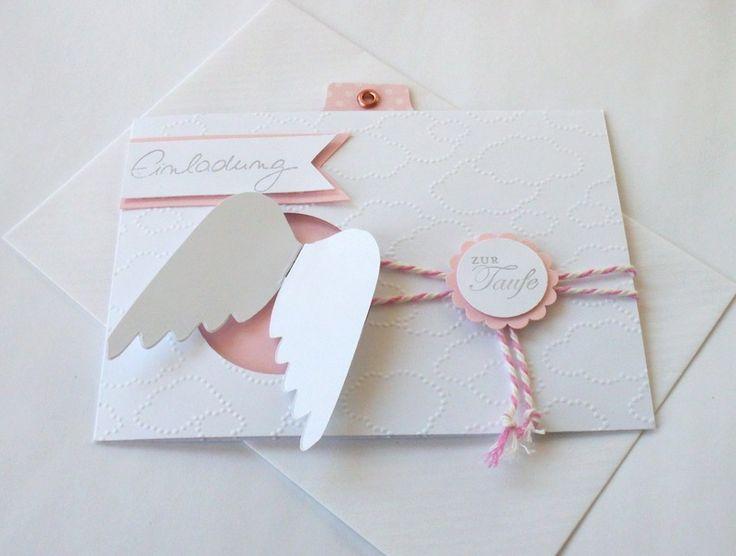 Einladungskarten - Einladung zur Taufe, 6er Set,inkl. Umschlag &am... - ein Designerstück von Este-Klamottee bei DaWanda