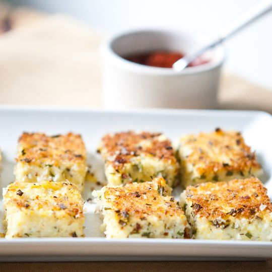 Appetizer Recipe: Herbed Goat Cheese Polenta Bites Recipes From the Kitchn   The Kitchn