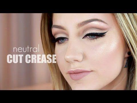 Cut Crease using Kat Von D Shade + Light Palette | Jazzi Filipek - YouTube Good technique on the cut crease
