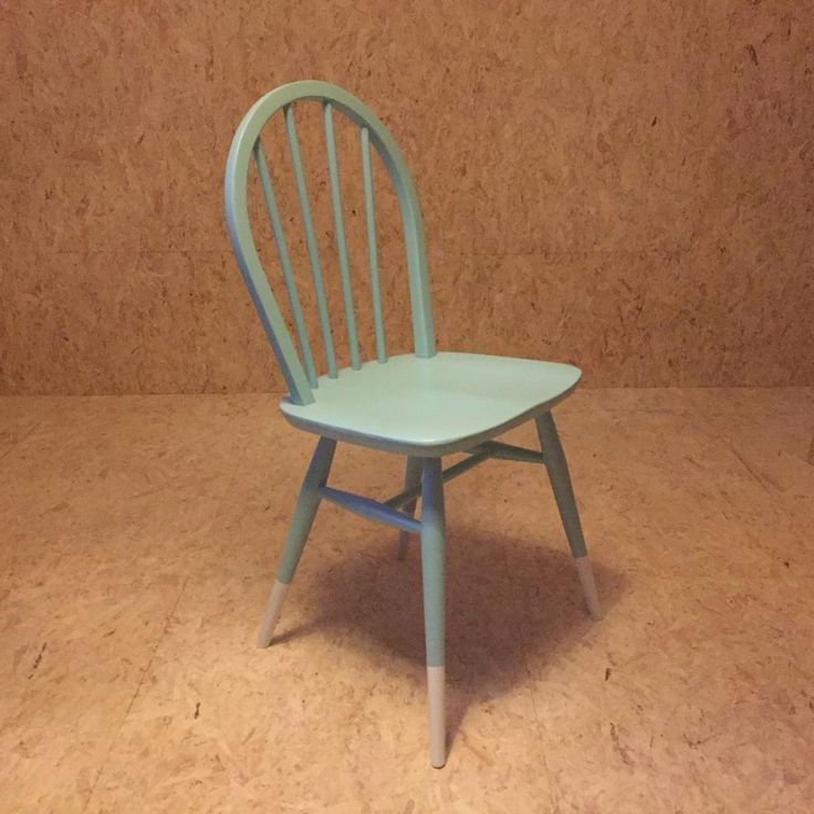 Charming ERCOL Dip Leg Painted Windsor Dining Chair Upcycled