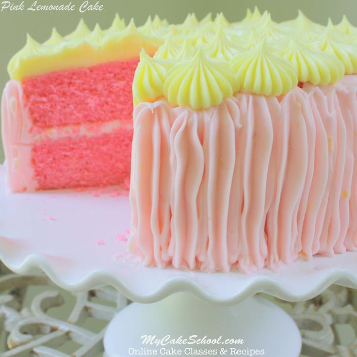 Moist & Flavorful Pink Lemonade Cake from Scratch- From MyCakeSchool.com's Recipe Section!