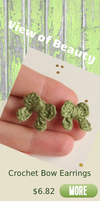 super cute crochet bow earrings