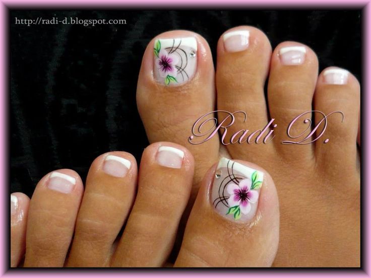 http://radi-d.blogspot.com/2013/08/french-toes-with-one-stroke-flower.html