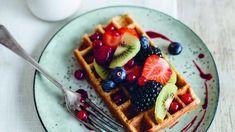 Recept van Sandra Bekkari: Vanillewafels met vers fruit