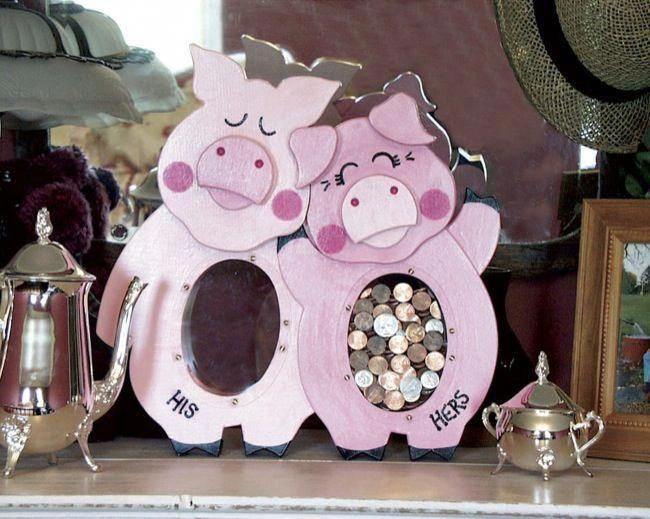 His and Hers Piggy Bank Woodworking Plan