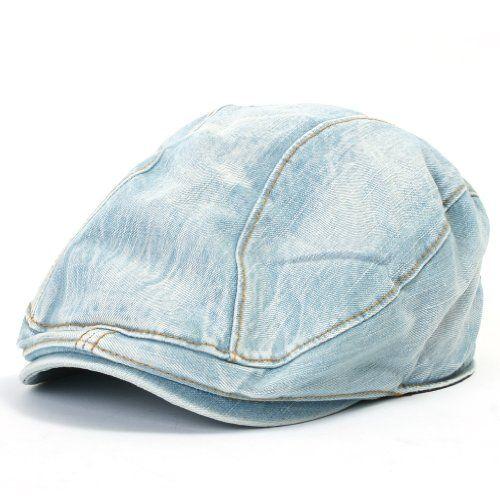 ililily Denim Newsboy Flat Cap