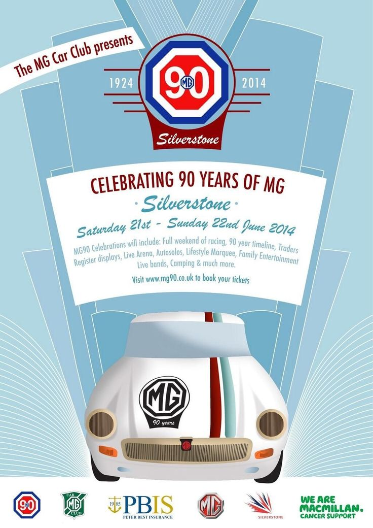 MG 90 year poster
