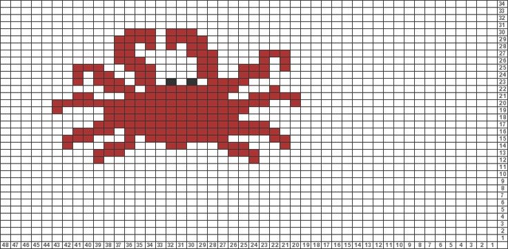 Tricksy Knitter Charts: lobster (85949) by Jannet