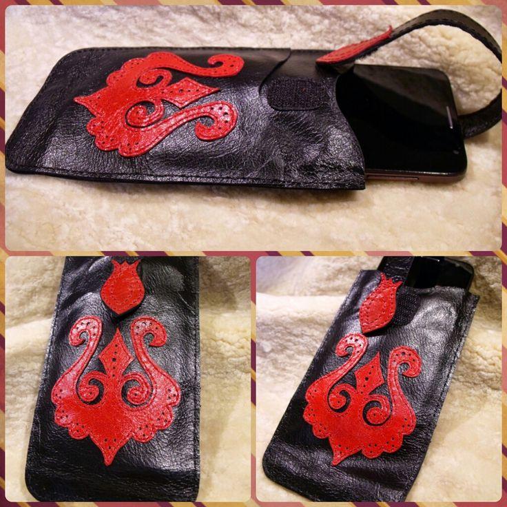 bőr mobiltok Leather mobile phone holder 20