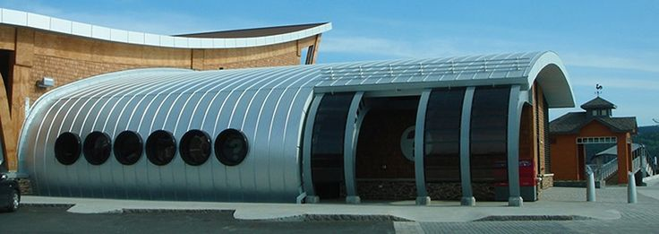 toiture metallique courbée