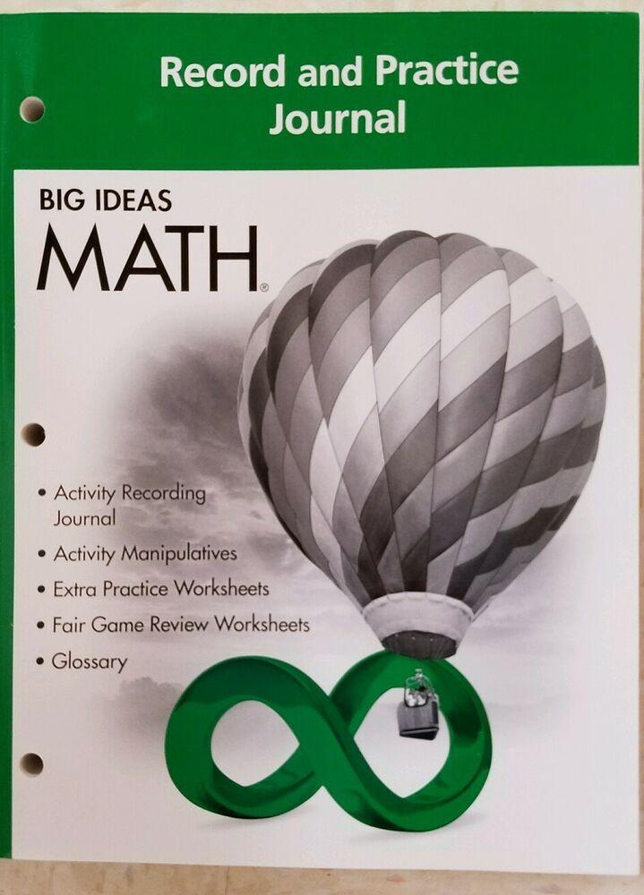 Big Ideas Math Green Class Set Of 25 Record And Practice Journal Green Grade 6 Workbookstudyguide Big Ideas Math Math Big Ideas Learning