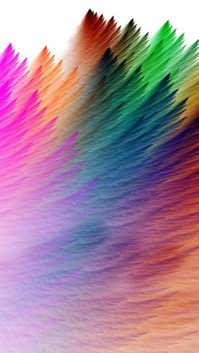 Best iPhone Backgrounds | Rainbow Feathers Wallpaper for iPhone 5/c/s