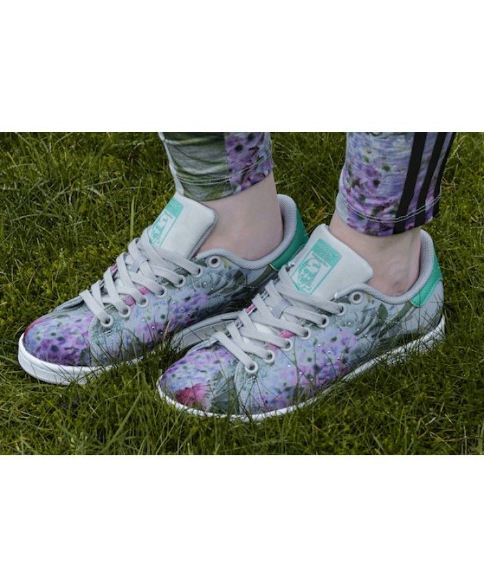 Adidas Australia Original Stan Smith Floral Trainers