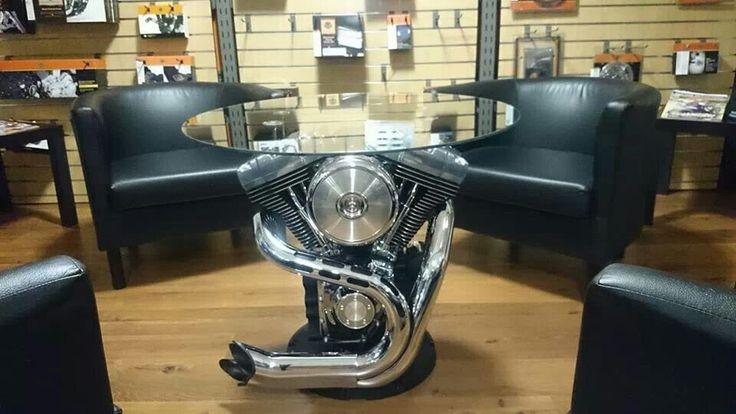 Mesa Con El Motor De Una Harley Ideas Decorativas Para