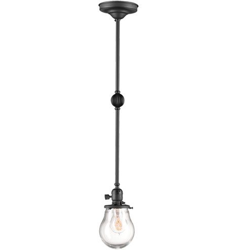 Rejuvenation Lighting Plum fixture with clear glass