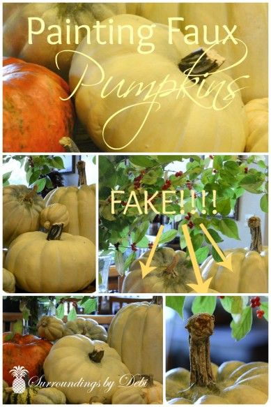 How to Paint Faux Pumpkins - Surroundings by Debi