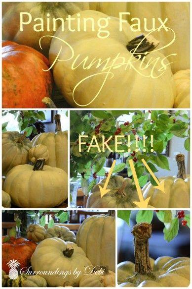 How to Paint Faux Pumpkins - Surroundings by Debi