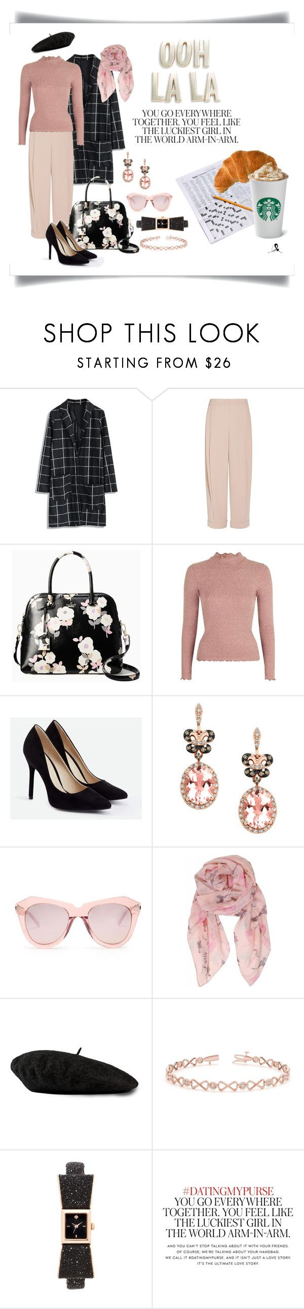 """""""cafe delight"""" by quicherz on Polyvore featuring Chicwish, Emporio Armani, Kate Spade, Topshop, JustFab, Effy Jewelry, Karen Walker, Humble Chic, Gucci and Allurez"""