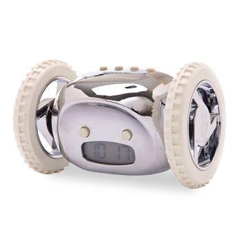 [ナンダクロッキー クロム] 朝全く起きない子ども、いつもデートの時間に遅れてくる彼、渡す相手に強いメッセージ性をもつかもしれない目覚まし時計なんてどうですか?