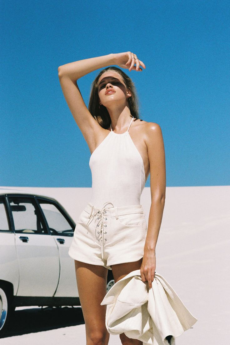Ad Campaign : Kim Riekenberg by Henrik Purienne for Mlle Mademoiselle S/S 2014