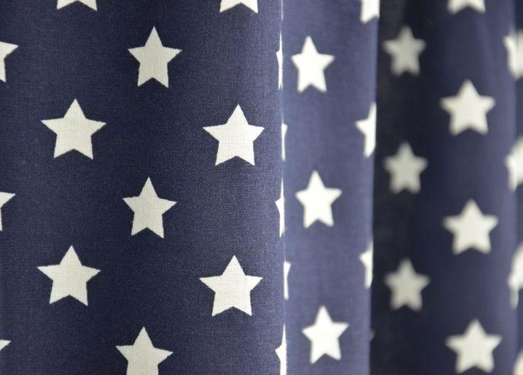 Blauw Gordijn Sparklers | Est. HH Sparklers 184905 donker blauw | Kindergordijnen